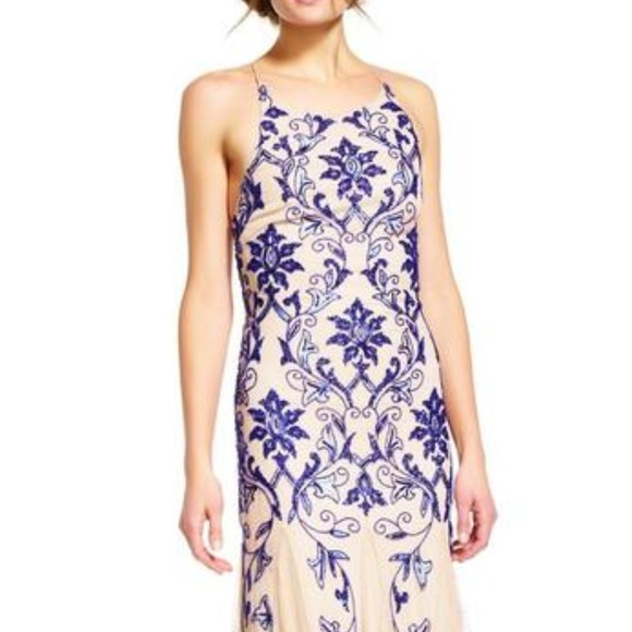 Adrianna Papell Dresses & Skirts - Adrianna Papell - Beaded Halter Neck A-line Dress